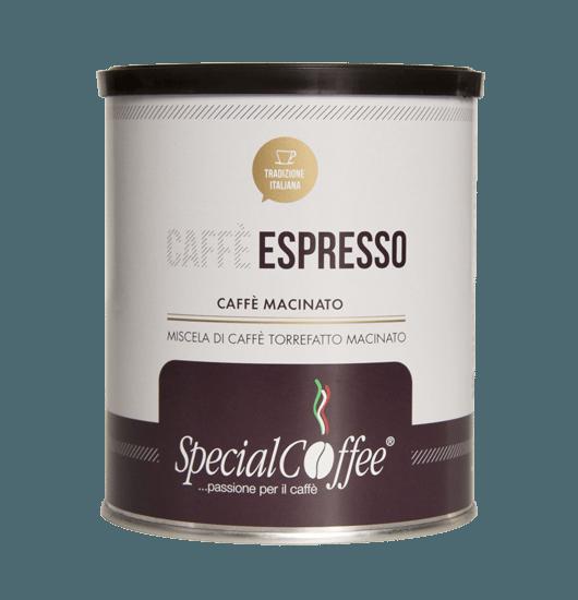 Caffè Macinato Lattina - Per macchine espresso e caffè moka