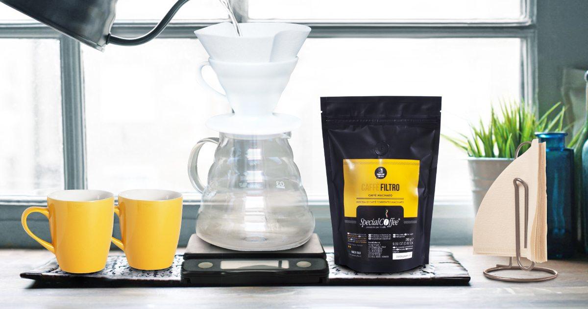 caffè filtro - il metodo di preparazione più antico, semplice e diffuso al mondo